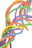 Bunch of colorful electrical wires Stock Photo
