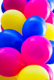Bunch of colorful festive balloons Stock Photos