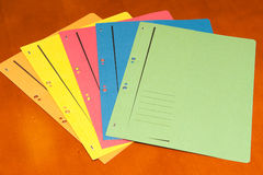 Bunch of colorful filling folders Royalty Free Stock Photography