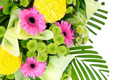 Bunch of colorful flowers decoration  on white Royalty Free Stock Image