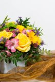 Flowers bouquet. A bunch of colorful flowers; floral art Stock Photos
