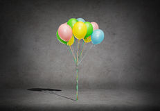 Bunch of colorful helium balloons Stock Image
