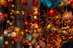 Bunch of colorful lamp handicrafts Royalty Free Stock Photos