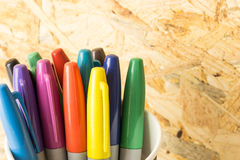 Bunch of colorful markers Royalty Free Stock Photo