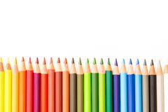 Bunch of colorful pencils Stock Images