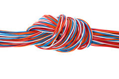 A bunch of colorful phone cables Royalty Free Stock Photos