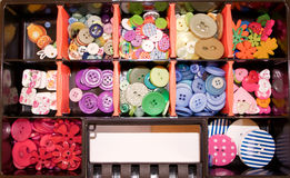 A bunch of colorful sewing buttons Royalty Free Stock Image