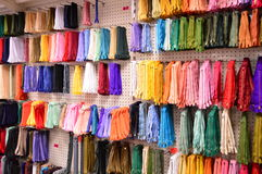 Bunch of colorful zippers. Royalty Free Stock Photos