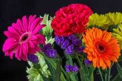 Bunch of Coloured Flowers Stock Image