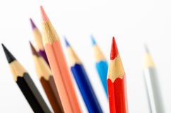 Bunch of Coloured Pencils Royalty Free Stock Image