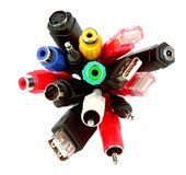 Bunch of the coloured sockets. Isolated bunch of the coloured sockets Stock Image
