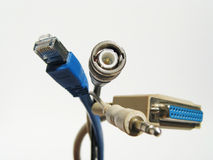A bunch of connection-cables Royalty Free Stock Photos