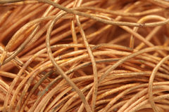 Bunch of copper wire  background Stock Image
