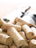 Bunch of corks into barrel Royalty Free Stock Images