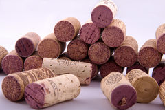 Bunch of corks with different designs. In a background Stock Image