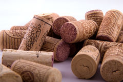 Bunch of corks in different positions Royalty Free Stock Photography