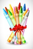 Bunch of Crayon. Illustration of bunch of crayon tied with ribbon vector illustration