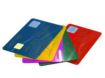 Bunch of credit cards Royalty Free Stock Image
