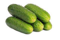 Bunch of cucumbers Royalty Free Stock Image
