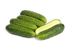 Bunch of cucumbers Stock Image