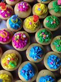 Easter cupcake food background Royalty Free Stock Photos