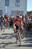 Bunch of cyclists - Paris Roubaix 2011 Royalty Free Stock Image