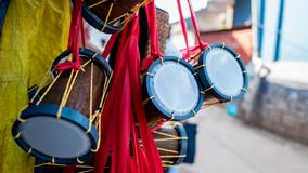 Damaru the musical instrument of lord shiva royalty free stock photo