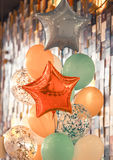 A bunch of balloons. A bunch of different colored balloons holiday concept Stock Photo