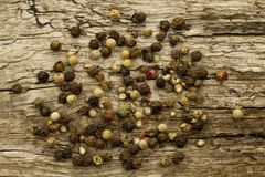 Bunch of different peppercorns Stock Image