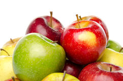 Bunch of different sorts of apples Royalty Free Stock Images