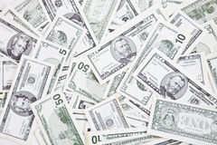 Bunch of dollar bills Royalty Free Stock Images
