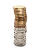 Bunch of  dollar coins tower Royalty Free Stock Photos