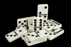 Bunch of dominoes Royalty Free Stock Photo