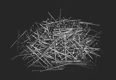 Bunch of dressmaking pins Stock Images