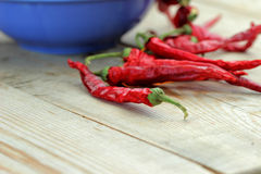 Bunch of dried hot pepper. Bunch of dried hot red  pepper Royalty Free Stock Photo