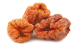 Bunch of dried red bell peppers Stock Images