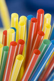Bunch of drinking straws. Bunch of colorful drinking straws on a bright background Royalty Free Stock Photos