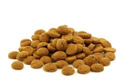 Bunch of Dutch pepernoten. Eaten at Dutch festivities around december 5th called Sinterklaas Stock Images