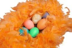 Bunch of Easter eggs stock photos