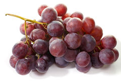 Bunch of eating black grapes Stock Photo