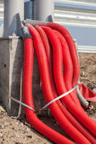 Bunch of electric cables Royalty Free Stock Photos