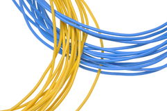 Bunch electrical cables Royalty Free Stock Photo