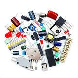 Bunch of electronic components Royalty Free Stock Image