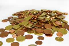 Bunch of Euro coins money Royalty Free Stock Image