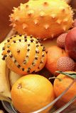 Bunch of exotic fruits Stock Photo