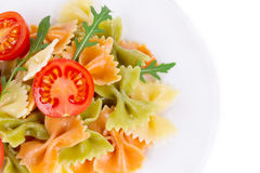 Bunch of the farfalle pasta Royalty Free Stock Photos