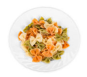 Bunch of the farfalle pasta Royalty Free Stock Photography