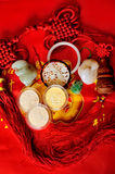 A bunch of festive treasure jewelry Stock Images
