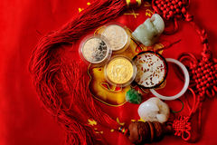 A bunch of festive treasure jewelry Royalty Free Stock Photography