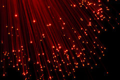 Bunch of Fiber Optic dynamic flying. From deep Royalty Free Stock Images